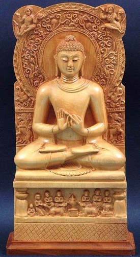 Carved Buddha Panel