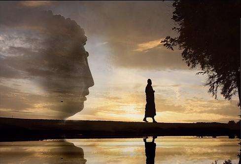 Walking Meditation with Buddha