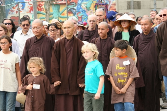 Thich Nhat Hanh and Children