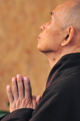 Thich Nhat Hanh in Prayer
