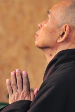 Thich Nhat Hanh in Prayer