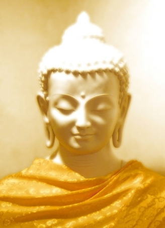 Golden Buddha in Light